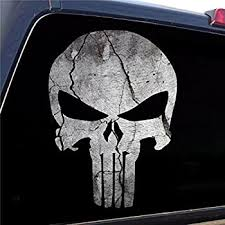 Amazon Com Punisher Skull Premium Performance Vinyl 3m Stripes Truck Vinyl Decals Rear Bed Side Stickers Set Of 2 Racing Black Home Kitchen