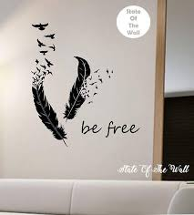 Feathers Turning Into Birds Vinyl Wall Decal Sticker Art Decor Etsy Vinyl Wall Decals Animal Mural Wall Decals