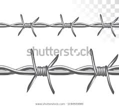 Seamless Barbed Wire Drawing Graphic Style Stock Vector Royalty Free 1194503080