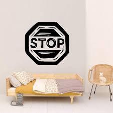 Amazon Com Vinyl Sticker Stop Sign Door Privacy Poster Do Not Enter Do Not Disturb Danger Teenager Kids Room Mural Decal Wall Art Decor Sa2249 Handmade
