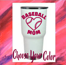 Monogram Vinyl Decal Sports Sticker For Tumblers Cups Baseball Mom Design 1 99 Picclick