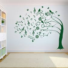 Tree Music Symbol Wall Decal Sticker Bedroom Tree Of Life Roots Birds Flying Away Home Decor Yoga Studiodecor A7 0 Wall Decal Sticker Wall Decals Wall Stickers