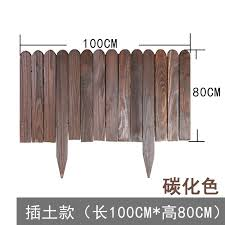 Anticorrosive Wood Fence Outdoor Flower Pond Fence Garden Decoration Vegetable Garden Outdoor Small Fence Balcony Garden Lawn Fence The Thickened Plate Is Integrally Formed To Install The Carbonized Solid Wood To Prevent
