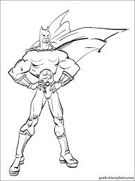 Kleurplaat Van De Batman Op Het Dak Gratis Kleurplaten