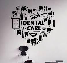 Dental Care Wall Decal Dentist Vinyl Sticker Wall Art Decor Home Interior Dental Dental Care Dental Office Decor