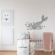 Mermaid Tail Wall Decal Mermaid Wall Decal Nautical Baby Etsy