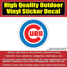 Chicago Cubs Cubbie Logo 2 Versions Available Baseball Vinyl Car Wi Colorado Sticker