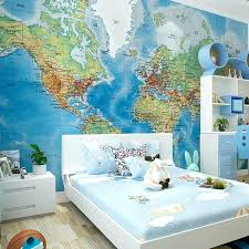 World Map Room Decor Kids Wall Image 0 Rugs Old Decorating Ideas Toqueglamour
