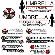 Buy Umbrella Pattern Decal Sticker Package 13 Stickers Included Resident Evil Umbrella Corporation For Car Motorcycle Window Wall Laptop Black In Cheap Price On Alibaba Com