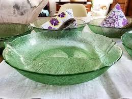 arc france aspen leaf glass bowls