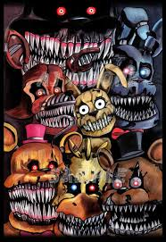 Nightmare Animatronics Five Nights At Freddy S 4 By Artist Aj