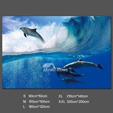 Ocean Wall Decals Blue Bedrom Pvc Home Decor Self Adhesive