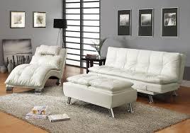 arianna white euro styled futon sofa