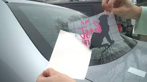 How To Apply Vinyl Car Decal Oracle 651 Youtube
