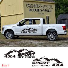 Sport Pick Up Truck Decor Vinyl Decal Off Road 4x4 Mountain Graphics Sticker Car Styling Auto Body Door Side Customized Sticker Car Stickers Aliexpress