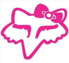 Fox Racing Girls Head Logo With Bow 6 Pink Vinyl Decal Window Sticker Null Http Www Amazon Com Dp B00f58nrx Fox Racing Tattoos Fox Decal Fox Racing Logo