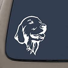 Amazon Com Cmi Decals Ni318 Golden Retriever Car Truck Decal Premium Quality White Vinyl Decal 5 5 Inches Tall Automotive