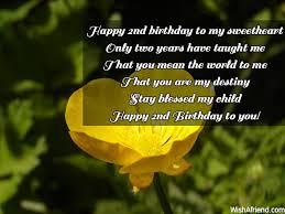 2nd Birthday Wishes