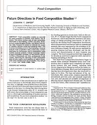 future directions in food composition