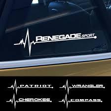 2pcs Set Car Side Window Stickers Decal For Jeep Cherokee Patriot Renegade Wrangler Jk Tj Rubicon Trail Hawk Compass Accessories Wish