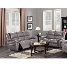 2 seater grey leather recliner sofas