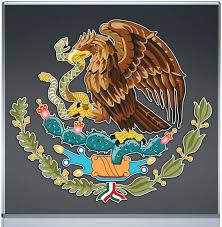 Amazon Com Escudo Mexicano Mexican Aguila Eagle Calcomania Sticker Colores Eagle Emblem Full Color 6x5 4 Kitchen Dining