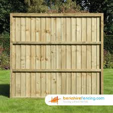 Close Board Fence Panels 5 5ft X 6ft Brown Berkshire Fencing