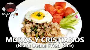 moros y cristianos black beans fried