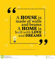 inspirational motivational quote a house is made of walls and b