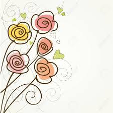 Fondo Floral Con Rosas Vintage Tarjeta De Cumpleanos Ilustraciones