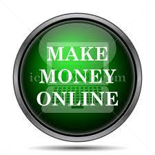 Make money online internet icon.
