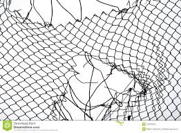 Broken Iron Wire Fence Stock Photo Image Of Industrial 15916236