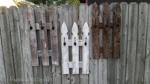 Picket Fence Whitewash Coat Rack With Images Picket Fence Crafts Fence Design Fence Decor