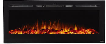 recessed mounted electric fireplaces