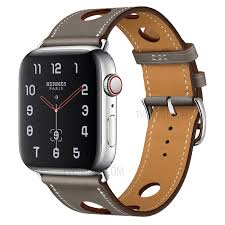 genuine leather three holes watch band