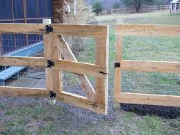Image Result For Welded Wire And Wooden Gates With Wheels Fence Design Farm Fence Modern Fence