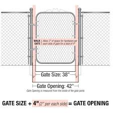 Yardgard 42 In W X 60 In H Galvanized Steel Bent Frame Walk Through Chain Link Fence Gate 328303a The Home Depot