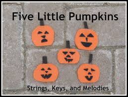 Strings Keys And Melodies Finger Play Fun Day 5 Little Pumpkins