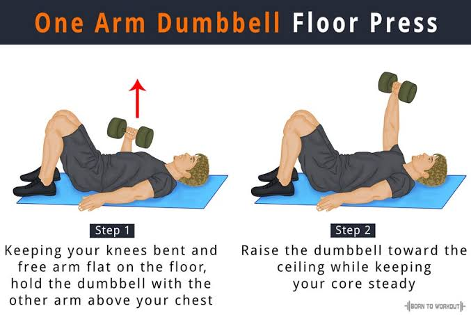 Image result for Single-Arm Dumbbell Floor Press""