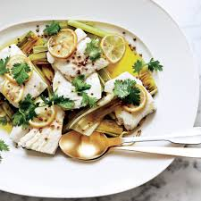 Halibut Confit With Leeks, Coriander ...