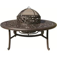 darlee 52 round patio table with bbq