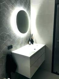 beautiful bathroom mirror round black