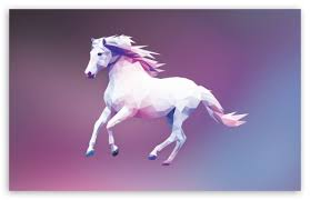 horse polygon design ultra hd desktop