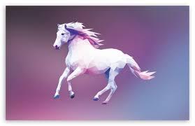 horse polygon design ultra hd desktop