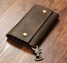 genuine leather mens bifold vertical
