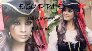 easy pirate makeup look for halloween