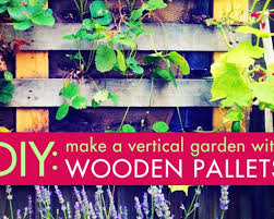vertical garden with upcycled wood pallets