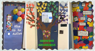 7 autism awareness month door