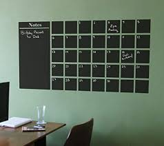 Amazon Com Chalkboard Calendar Wall Decal With Extra Note Panel 25 Tall X 48 Wide Handmade