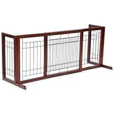 Yaheetech Adjustable Indoor Pet Fence Gate Free Standing Dog Gate Solid Wood Construction Walmart Com Walmart Com